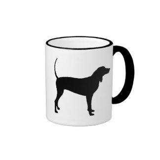 Coonhound Dog (black) Coffee Mug