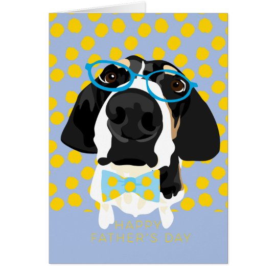 Coonhound Father's Day Card