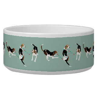 Coonhound Holiday Pet Bowl