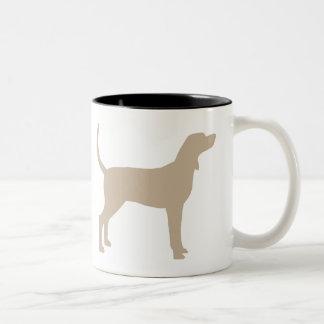 Coonhound Silhouette (tan) Coffee Mug