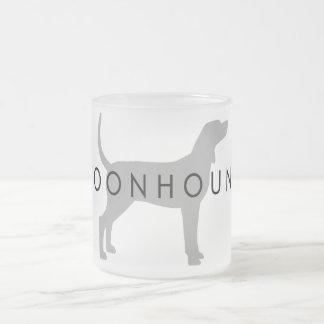 Coonhound (silver grey w/ text) mug