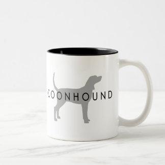 Coonhound (silver grey w/ text) coffee mug