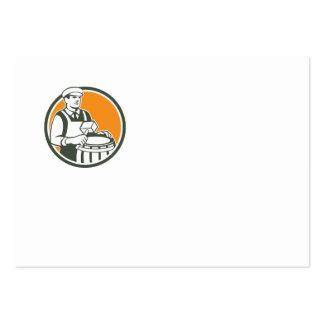 Cooper Barrel Maker Drum Retro Circle Business Card Template