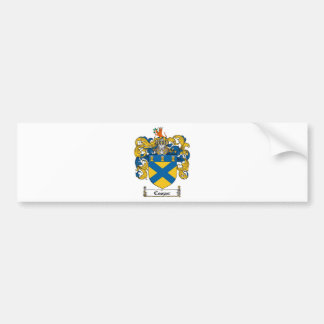 COOPER FAMILY CREST -  COOPER COAT OF ARMS BUMPER STICKER