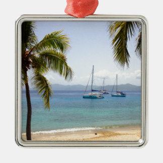 Cooper Island British Virgin Islands Silver-Colored Square Decoration