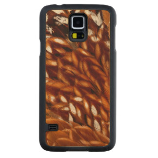 Cooper Pheasant Feather Pattern Carved Maple Galaxy S5 Case