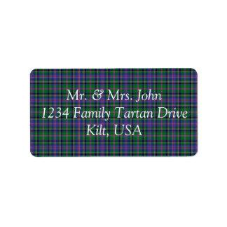 Cooper Tartan Label Address Label
