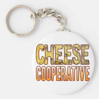Cooperative Blue Cheese Basic Round Button Key Ring