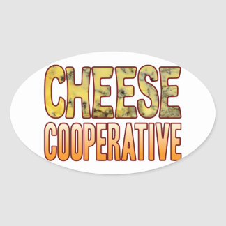 Cooperative Blue Cheese Oval Sticker