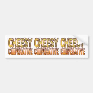 Cooperative Blue Cheesy Bumper Sticker