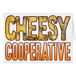 Cooperative Blue Cheesy Card
