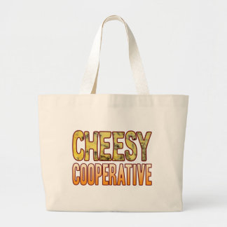 Cooperative Blue Cheesy Large Tote Bag