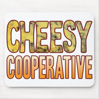 Cooperative Blue Cheesy Mouse Mat