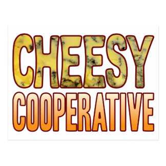 Cooperative Blue Cheesy Postcard