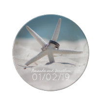 Coordinated Beach Wedding Theme Set Commemorative Plate