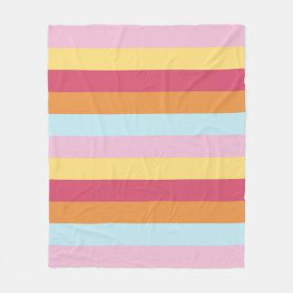 Coordinated Stripes fleece blanket