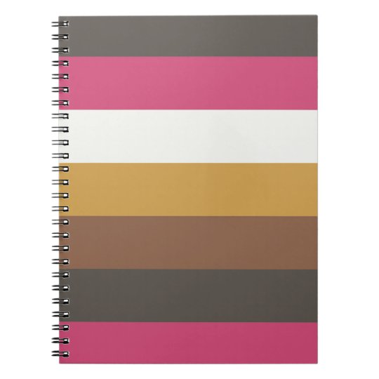 Coordinated Stripes Note Book
