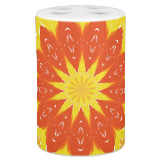 Coordinating Bath Set with Abstract Sun Design