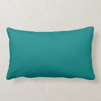 Coordinating Turquoise and Teal Solid Colors Lumbar Cushion