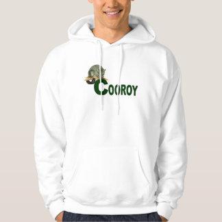 Cooroy possum - dk green hoodie