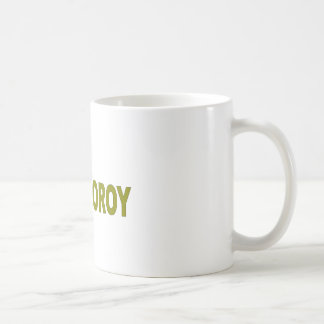 Cooroy Possum - Olive Green lettering Basic White Mug
