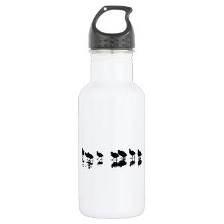 Coot Design - Black on White 532 Ml Water Bottle