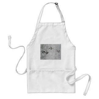Coot Footprints In The Snow Standard Apron