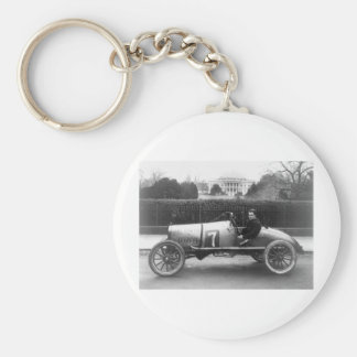 Cootie Race Car Vintage White House Photo Basic Round Button Key Ring