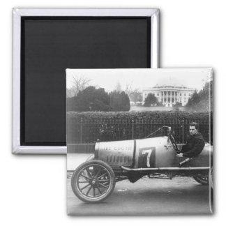 Cootie Race Car Vintage White House Photo Square Magnet