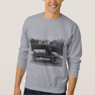 Cootie Race Car Vintage White House Photo Pull Over Sweatshirt