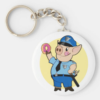 Cop Chops Keychain