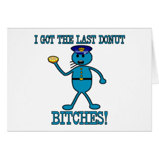 Cop Has Last Donut Card