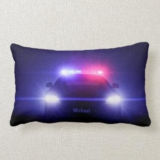 Cop  Police Car With Full Lights Lumbar Cushion