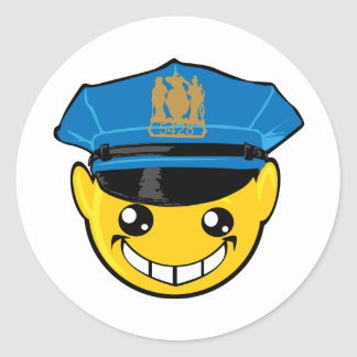 cop smiley face stickers