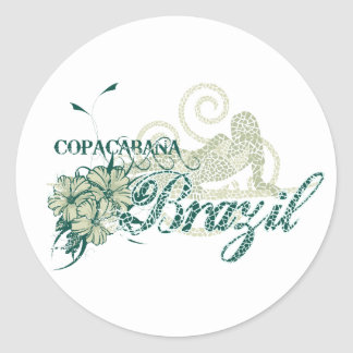 Copacabana Brazil Tshirts and Gifts Classic Round Sticker