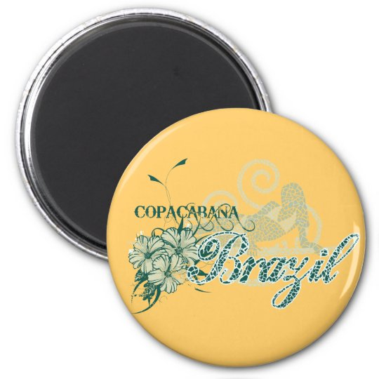 Copacabana Brazil Tshirts and Gifts Magnet