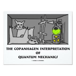 Copanhagen Interpretation Of Quantum Mechanics 11 Cm X 14 Cm Invitation Card
