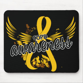 COPD Awareness 16 (Gold) Mouse Pad