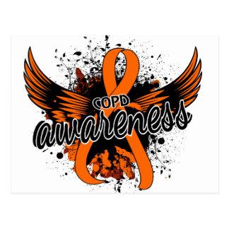 COPD Awareness 16 (Orange) Postcard
