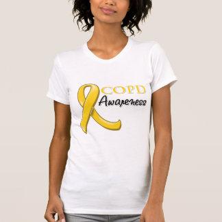 COPD Awareness Ribbon (gold ribbon) Tee Shirts