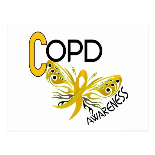 COPD Butterfly 3.1 Awareness Post Card