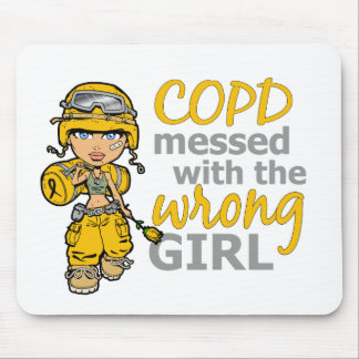COPD Combat Girl 1 Mouse Pads