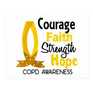 COPD Courage Faith 1 Postcard