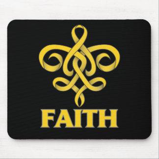 COPD Faith Fleur de Lis Ribbon Mouse Pad