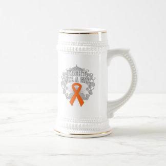 COPD Fight Like A Girl Fleurish 2 Coffee Mug