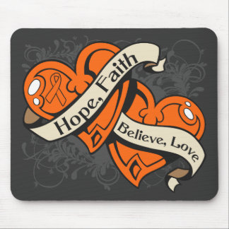COPD Hope Faith Dual Hearts Mouse Pads