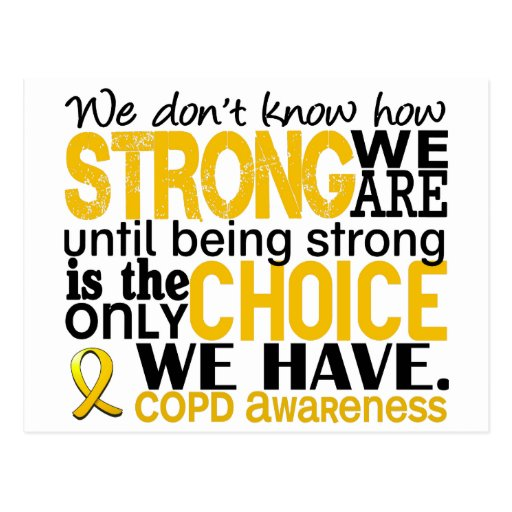 COPD How Strong We Are Post Cards