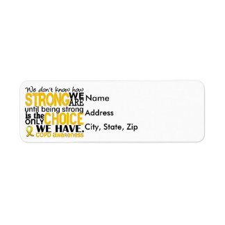 COPD How Strong We Are Return Address Label