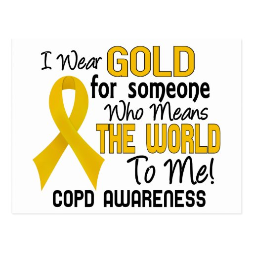 COPD Means World To Me 2 Postcards