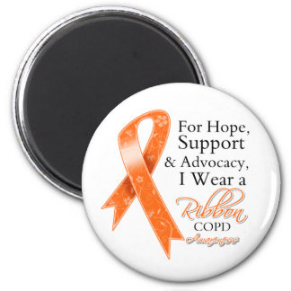 COPD Support Hope Awareness 6 Cm Round Magnet